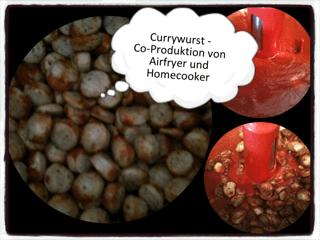 Currywurst aus dem Airfryer