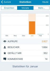 Blogstatistik Januar 2017 Kleinstadtschwatz
