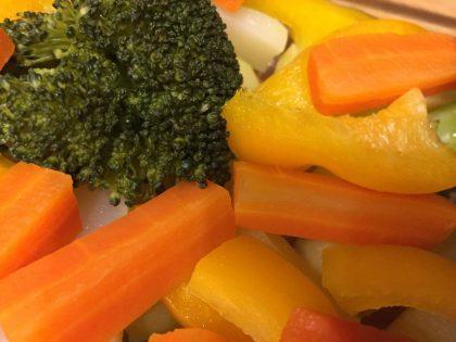 Möhren, Broccoli, Paprika und Kartoffeln in Auflaufform(2)