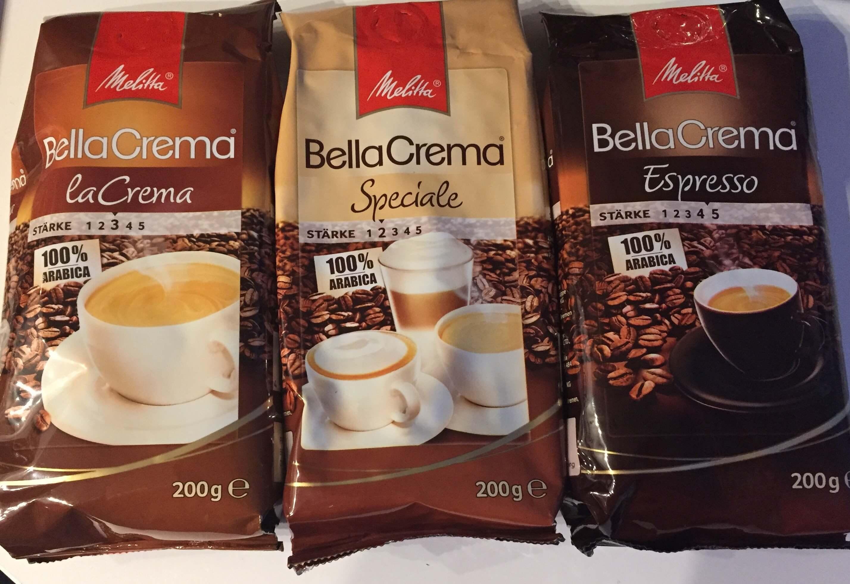 Melitta BellaCrema Drei Sorten