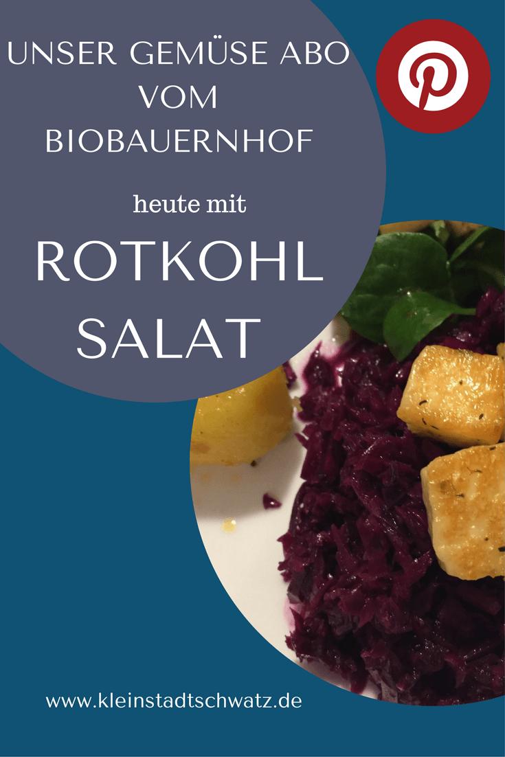 Unser Gemüse Abo vom Biobauernhof - heute mit einem Rezept für Rotkohl Salat
