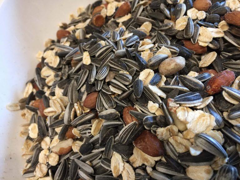 Vogelfutter, Sonnenblumenkerne, Nüsse, Haferflocken (1)