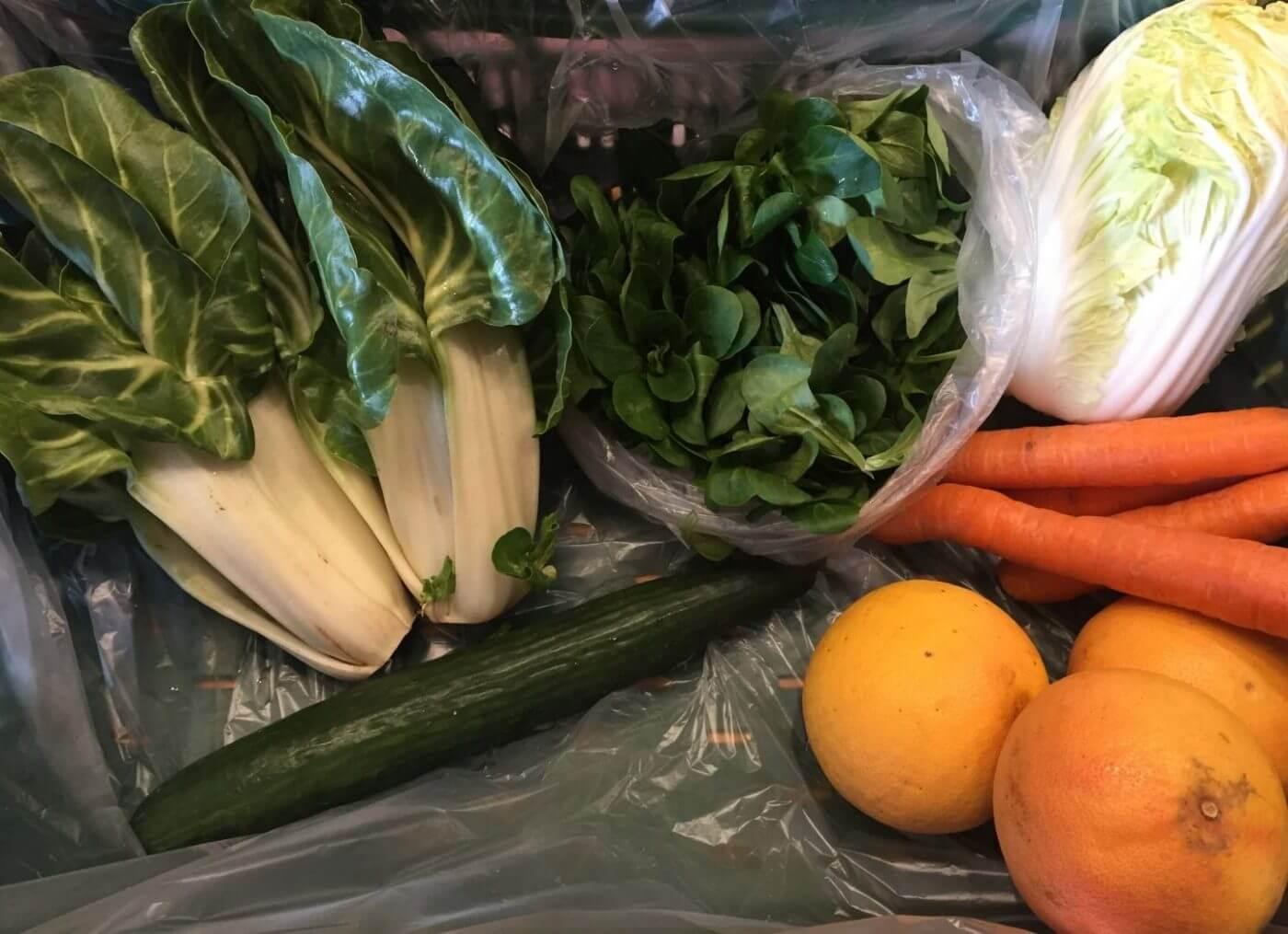 Inhalt der Gemüsekiste KW12