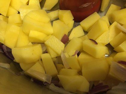 Kartoffeln in Würfeln