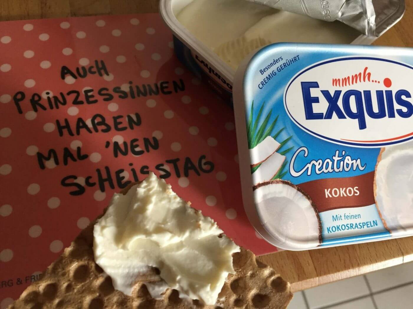 Exquisa Kokos auf Knusperbrot (1)