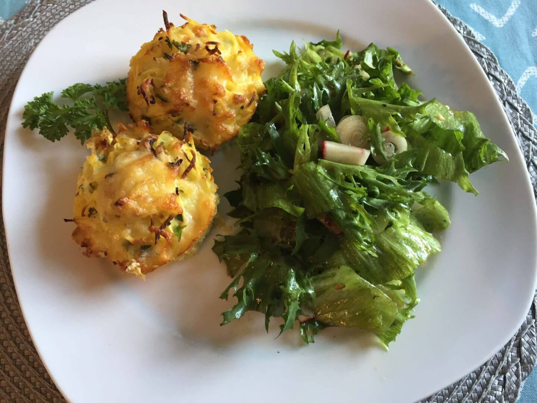 Kartoffel-Kohlrabi-Rösti