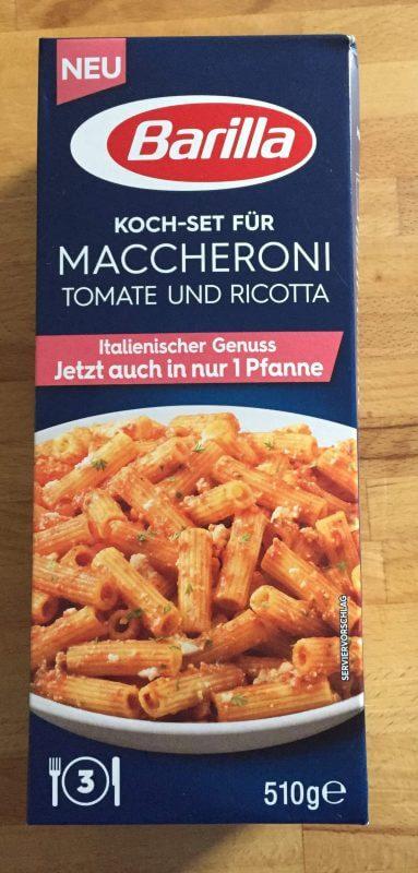 Paket Maccheroni mit Tomate und Ricotta