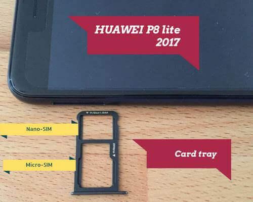 HUAWEI P8 lite 2017 SIM Kartenschacht