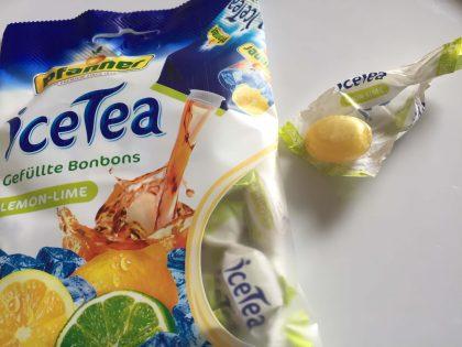 iceTea Bonbons Lemon ausgewickelt