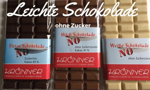 No Sugar Schokolade von Krönner