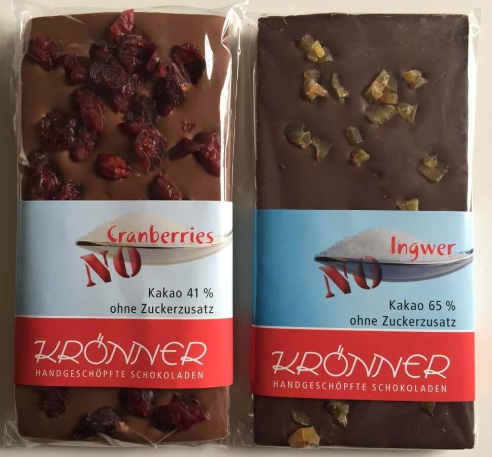 Krönner no Sugar Tafeln Cranberries und Ingwer