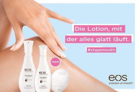 Rossmann News: #staysmooth mit der eos hand lotion und body lotion