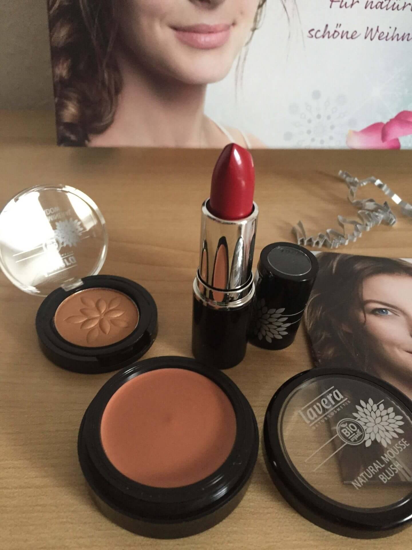 Lavera Lippenstift, Blush und Eyeshadow