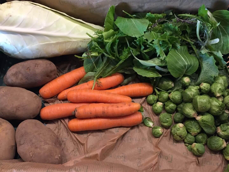 Inhalt der Gemüse Abo Kiste KW 03-2018