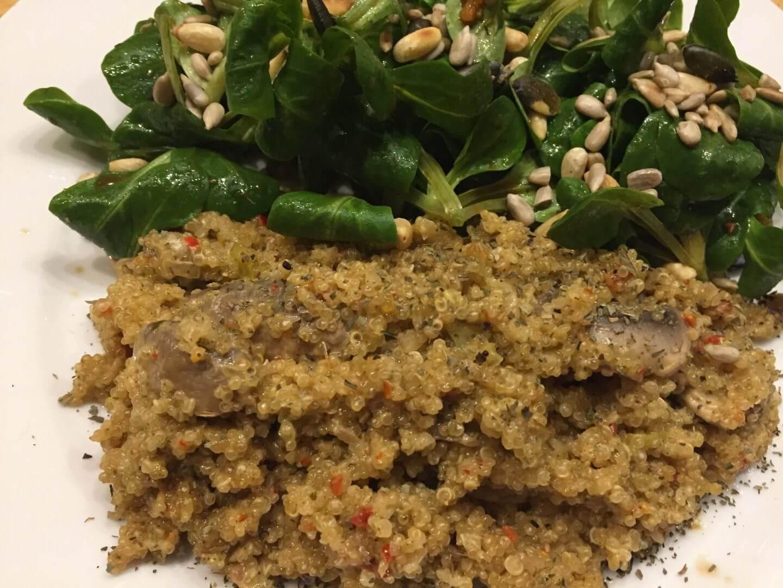 Quinotto mit Feldsalat