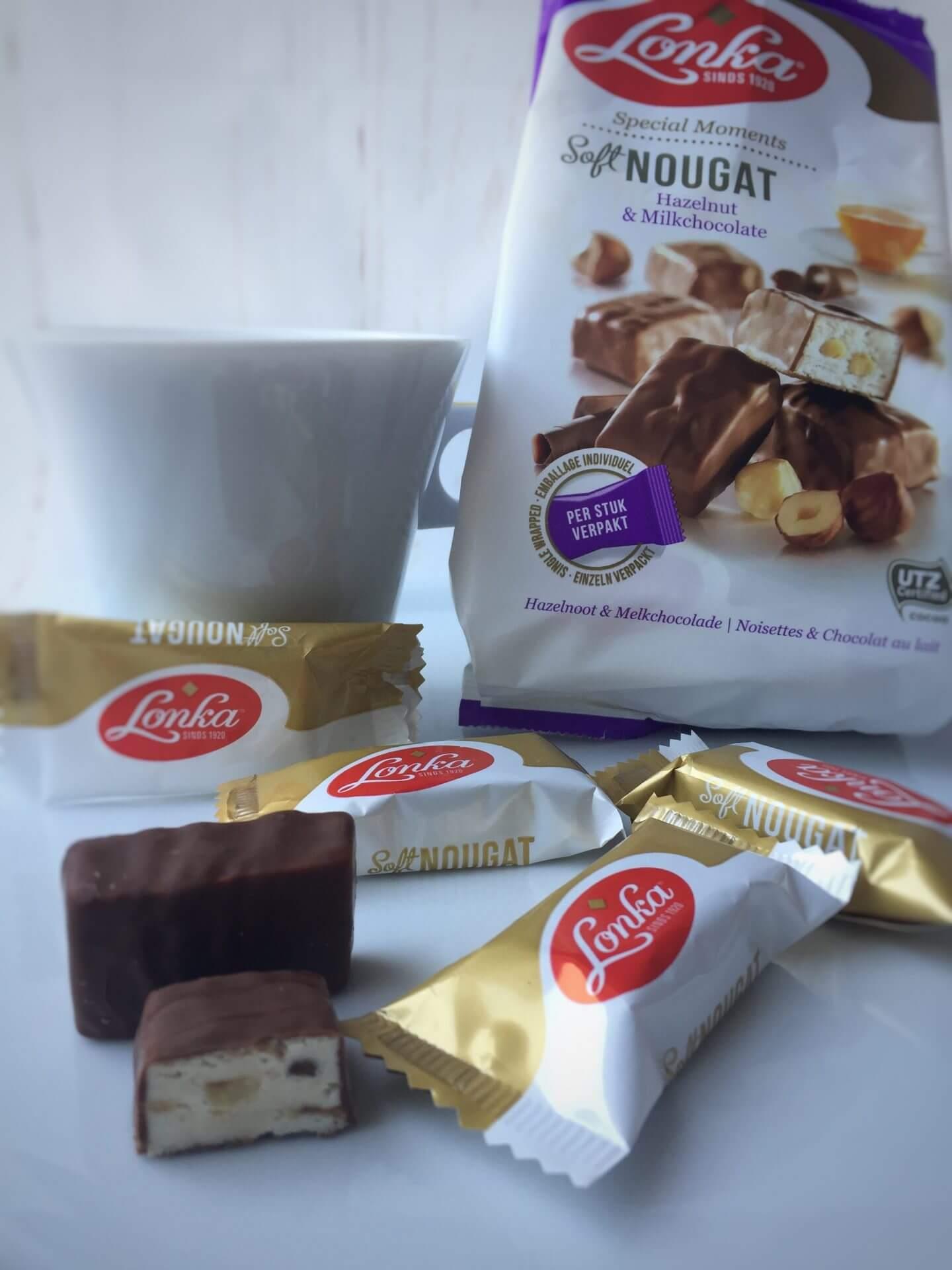 Lonka Soft Nougat mit Haselnuss und Milchschokolade