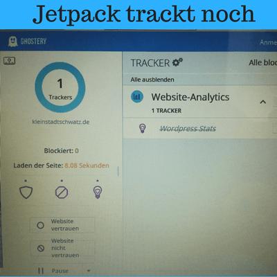 Jetpack trackt noch