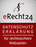 e Recht24 siegel datenschutz in rot