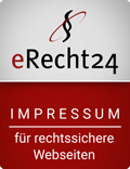e Recht24 siegel impressum in rot