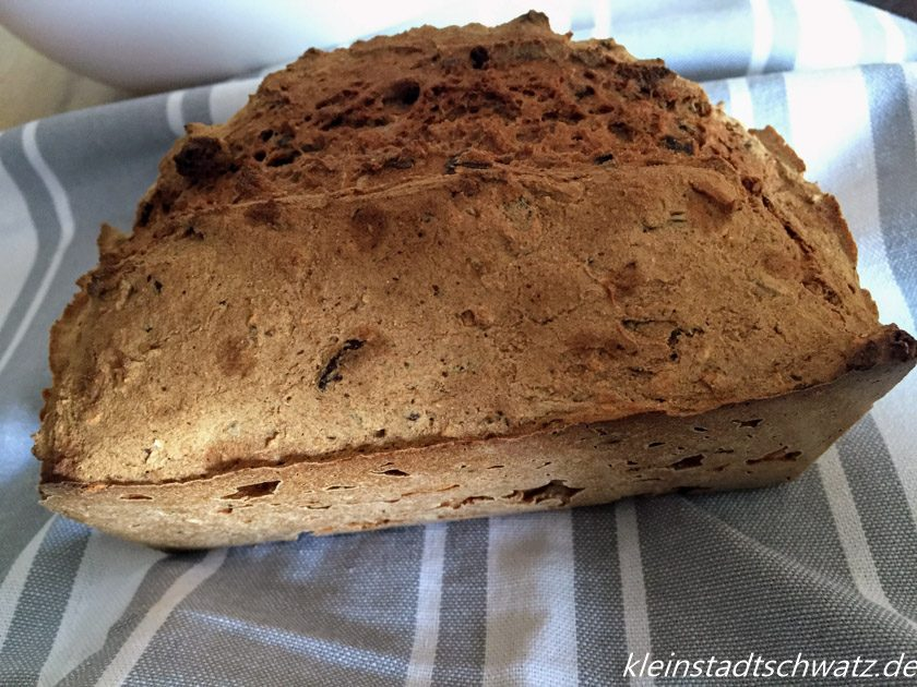 Biovegan Fitness Brot fertig gebacken