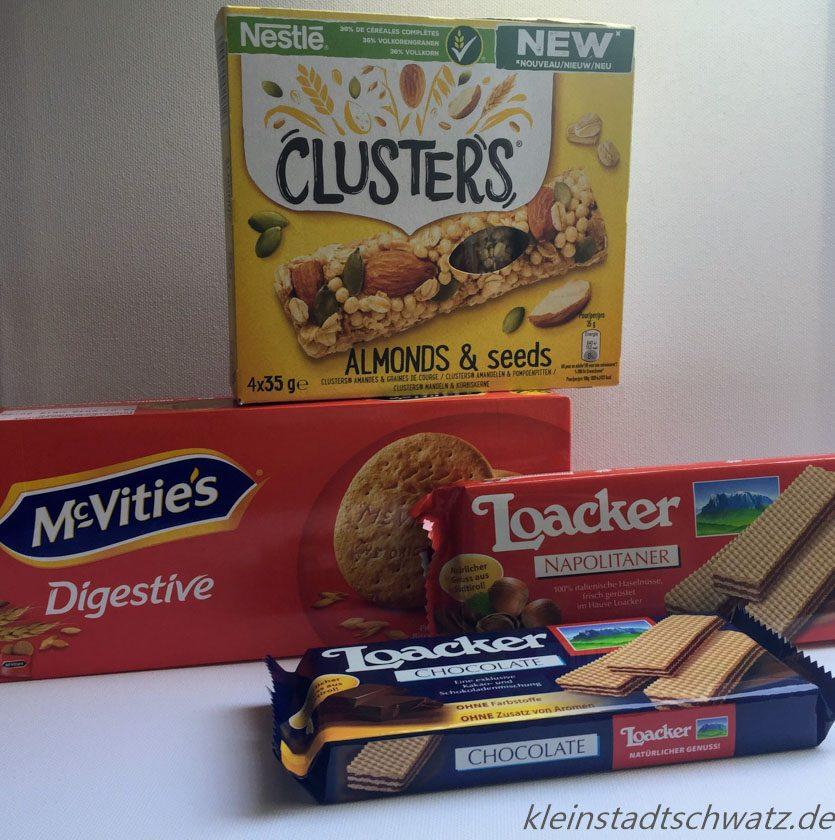 Clusters, Digestive und Loacker Napolitaner