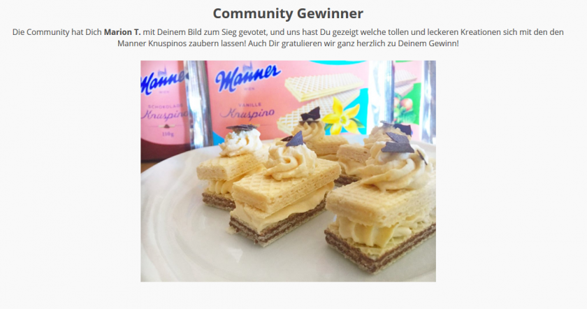 Screenshot der kjero Gewinner site vom Manner Bilder Contest