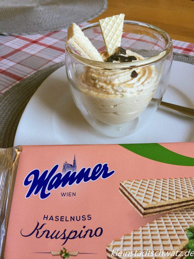 Manner Knuspino krönen jedes Dessert