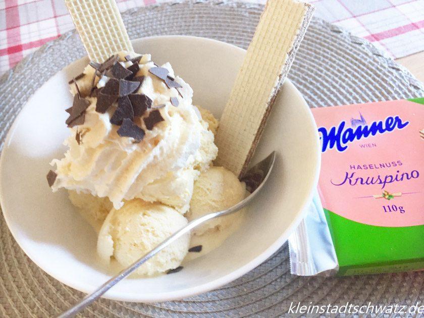 Manner Knuspino zu Vanilleeis -ein Traum