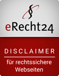 e Recht24 siegel disclaimer in rot