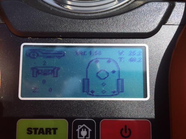 Display Anzeige der Version und Temperatur