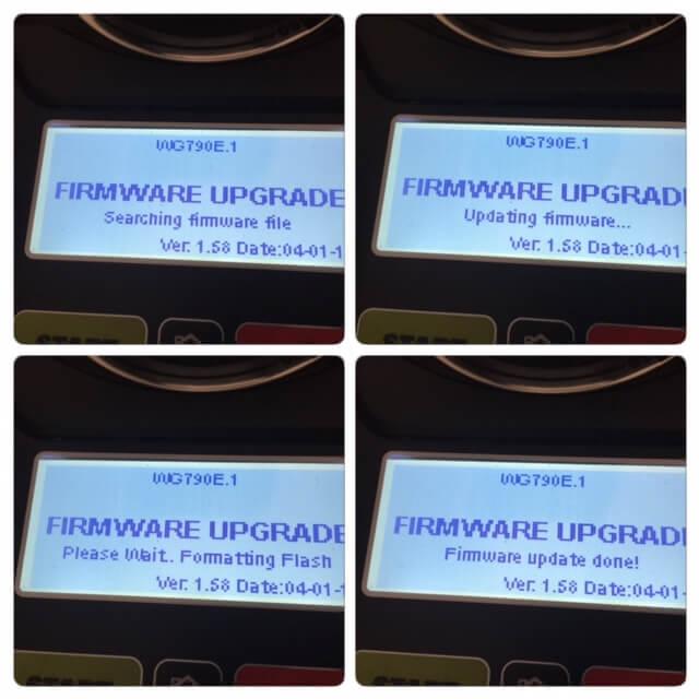 Firmware Upgrade Verlauf 1