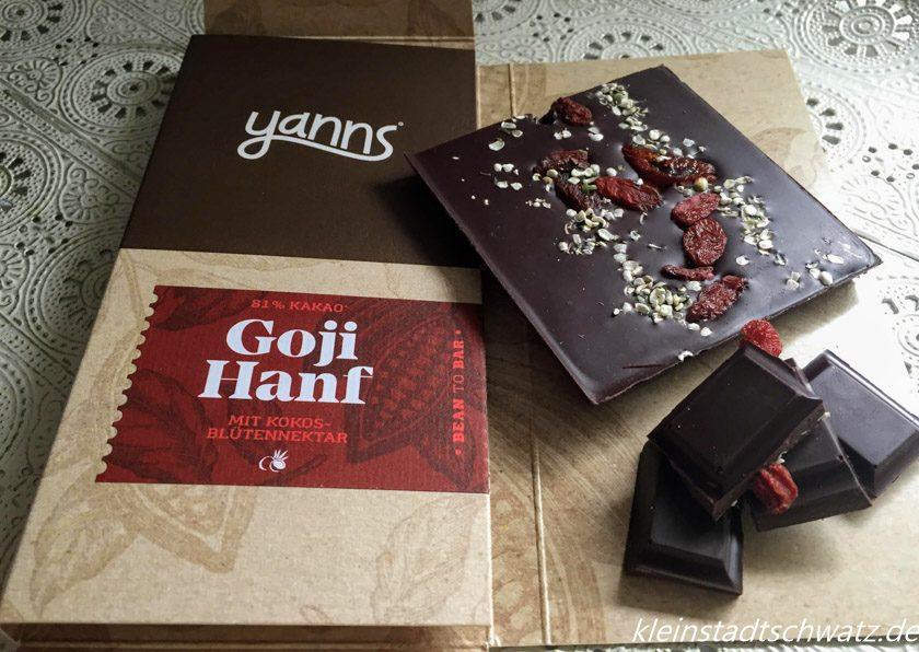 Goji Hanf Schokolade von Yanns