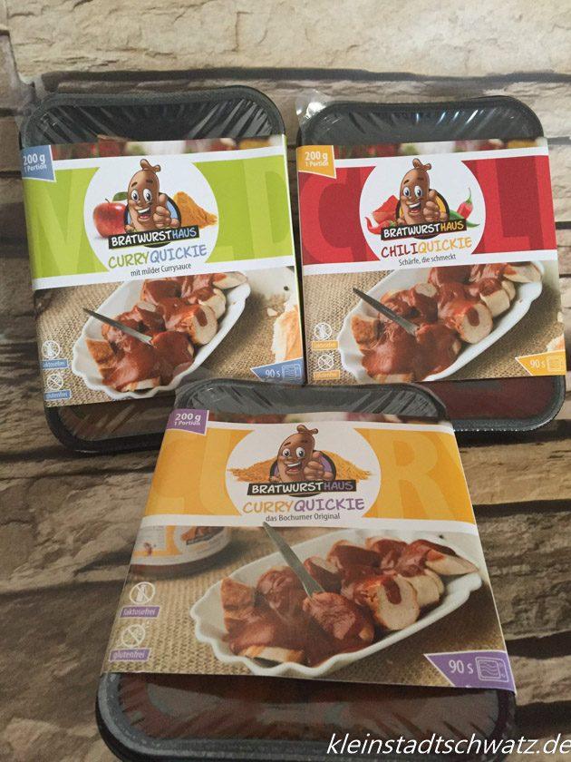 Die drei Curry Quickies vom Bratwursthaus