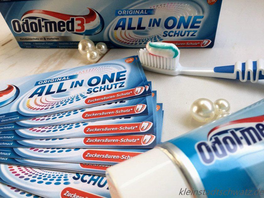 Odol-med3 All in One Zahnpasta mit den 3 Streifen