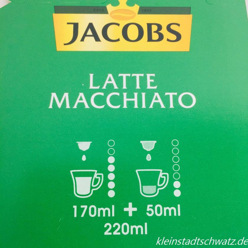 Mengenangabe Latte Macchiato