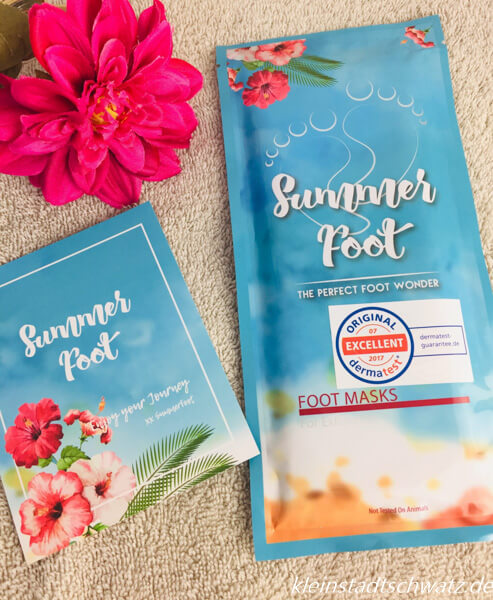Summer Foot Fußmaske in Verpackung