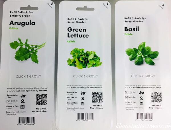 Emsa Smart Garden - Smart Soil Kapseln Pakete Basilikum, Rucola und Salat