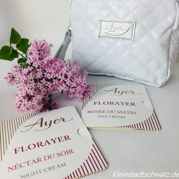 FlorAyer Proben mit Tasche im Hintergrund