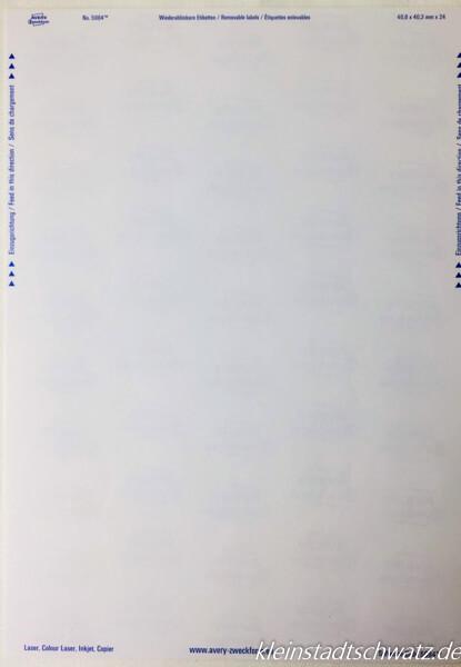 Avery Zweckform Etiketten in Blumenform bedruckbarer Bogen