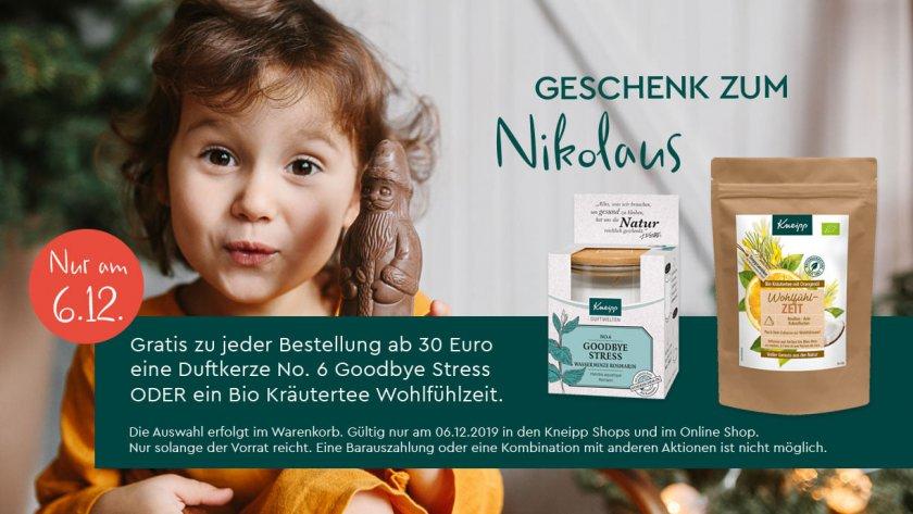 Nikolausaktion im Kneipp Online Shop