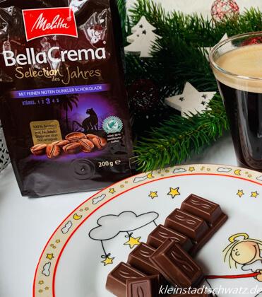 Melitta Bella Crema Selection des Jahres 2020 und dunkle Schokolade