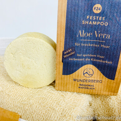 Festes Shampoo mit Aloe Vera
