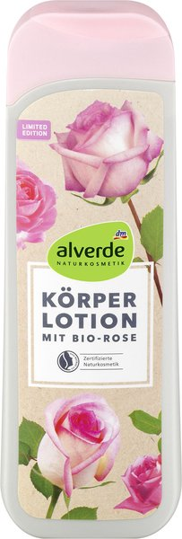 alverde Naturkosmetik mit Bio-Rose Körperlotion