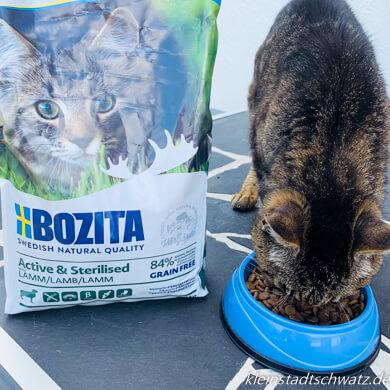 Unserer Lili schmeckt das Trockenfutter von Bozita